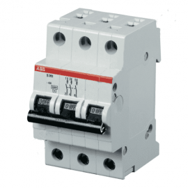 Автоматический выключатель трехполюсный ABB S203 B50 6kA
