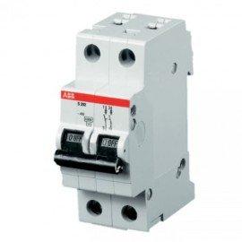 Автоматический выключатель двухполюсный ABB S202 C50 6kA