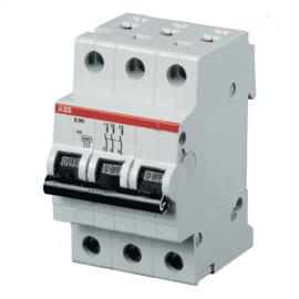 Автоматический выключатель трехполюсный ABB S203 C63 6kA