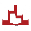 Изолятор ступенчатый ИС4-25/1-15 (4 x М6; 1 x М5) силовой с болтом IEK