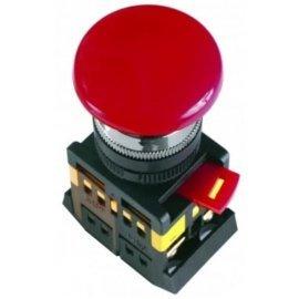 Кнопка AEAL22 Грибок с фиксацией красный d22мм 240В 1з+1р IEK