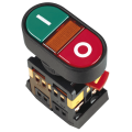 Кнопка APВВ-22N I-O d22мм неон/240В 1з+1р IEK