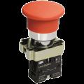 Кнопка управления LAY5-BS542 Грибок аварийная с фиксацией поворотная IEK