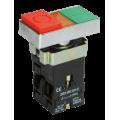 Кнопка управления LAY5-BW8465 I-O сдвоенная с подсветкой IEK