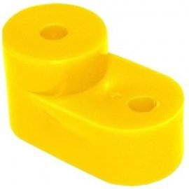 Угловой изолятор для О шины желтый