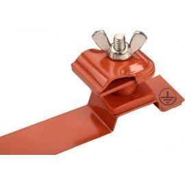 GALMAR Зажим на кровлю универсальный для токоотвода (высота до 15 мм; оцинк. сталь с покраской)