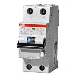 Дифференциальный автоматический выключатель ABB DS201 2п. 10А/0,03mA (тип AC)