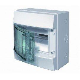 Влагозащищенный настенный бокс ABB Mistral65 8М прозрачная дверь с клеммным блоком