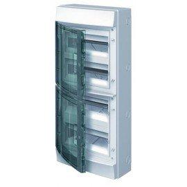 Влагозащищенный настенный бокс ABB Mistral65 48М прозрачная дверь с клеммным блоком