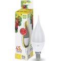 Лампа светодиодная LED-СВЕЧА НА ВЕТРУ-standard 5Вт 230В Е14 3000К 450Лм ASD