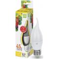 Лампа светодиодная LED-СВЕЧА НА ВЕТРУ-standard 5Вт 230В Е27 3000К 450Лм ASD