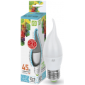 Лампа светодиодная LED-СВЕЧА НА ВЕТРУ-standard 5Вт 230В Е27 4000К 450Лм ASD