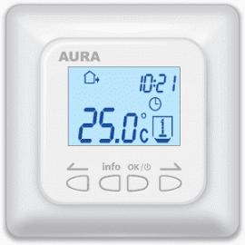 Терморегулятор для теплого пола AURA LTC 730 Белый