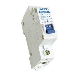 Автоматический выключатель ANDELI DZ47-63/1P 1A 4.5kA х-ка C