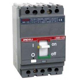 Автоматический выключатель ANDELI AM3-125S/3P 63A 25KA