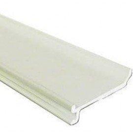 Разделительная перегородка ПГР высотой 40мм Рувинил цвет Белый (Цена за 1 Метр)