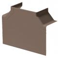 Тройник накладной 90 градусов ТРН-100х40/100х60-К Рувинил цвет Коричневый