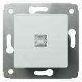 773613 Выключатель кнопочный с подсветкой Legrand Cariva Белый