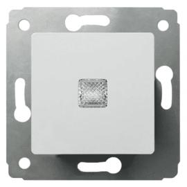 773610 Выключатель одноклавишный с подсветкой Legrand Cariva Белый