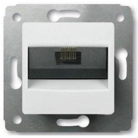 773641 Розетка компьютерная RJ45 категории 5e UTP Legrand Cariva Белая