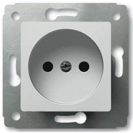 773616 Розетка без заземления Legrand Cariva Белая
