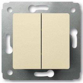 773708 Переключатель двухклавишный на 2 направления Legrand Cariva Слоновая кость