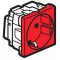 Legrand Mosaic 077218 Модуль розетки 2К+3,с защитными шторками,красный