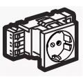 Legrand Mosaic 077401 Модуль розетки 2К+З,проходной,безвинтовые зажимы,белый