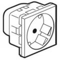 Legrand Mosaic 077245 Модуль розетки 2Кx+3 под углом 45°,с защитными шторками,белый