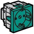 Legrand Mosaic 077216 Модуль розетки 2К+3 с защитными шторками, зеленый
