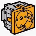 Legrand Mosaic 077217 Модуль розетки 2К+3,с защитными шторками,оранжевый