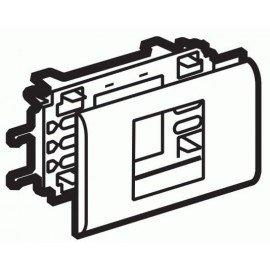 10952 Legrand Mosaic DLP Рамка с суппортом на 2 модуля для крышки 65мм