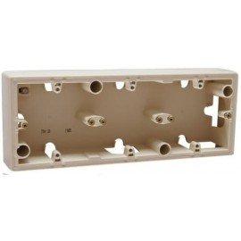 776133 Коробка Legrand Valena 3 поста для накладного монтажа Cлоновая кость
