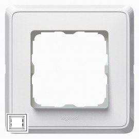 773660 Рамка Legrand Cariva 1 пост Белая