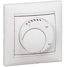 770091 Терморегулятор для теплого пола Legrand Valena Термостат белый