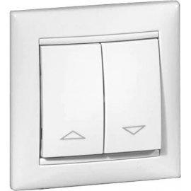 774414 Выключатель Белый Legrand Valena для управления роль ставнями без фиксации с электрической блокировкой