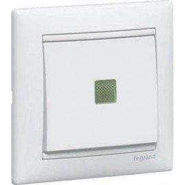 774410 Выключатель Белый Legrand Valena 1 кл. с подсветкой