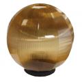Уличный светильник-шар (золотистая призма с гранями) НТУ 12-60-203 (⌀-200)