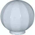 Уличный светильник-шар (молочно-белый с гранями) НТУ 11-60-201 (⌀-200)