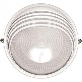 Влагозащищенный светильник Navigator 94 819 NBL-R3-100-E27/WH (НПБ 1107/НПП 1107) белый круг с ресничкой 100Вт IP54