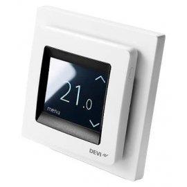 Терморегулятор Devireg™ Touch с датчиком пола и воздуха белый