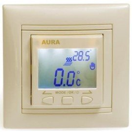 Терморегулятор для теплого пола AURA LTC 090 Кремовый