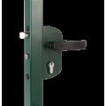 Замок механический для калиток LAKZ6060 P1L (цвет: RAL 6005, зеленый)