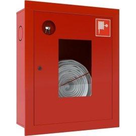 Ш-ПК-001ВОК (ПК-310ВОК) лев. Шкаф пожарный встроенный со стеклом красный ТОИР-М