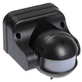 Датчик движения ИЭК ДД-009 1100Вт угол обзора 180 градусов IP44 черный