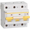 Автоматический выключатель ИЭК трехполюсный ВА47-100 3Р 63А 10кА (хар.С)