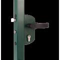 Замок механический для калиток LAKZ4040 P1L (цвет: RAL 6005, зеленый)