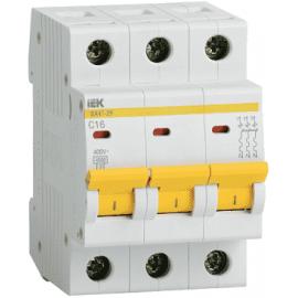 Автоматический выключатель ИЭК трехполюсный ВА47-29 3Р 5А 4,5кА (хар.С)