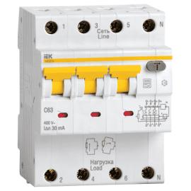 Автоматический выключатель дифференциального тока АВДТ-34 3п+N С50А 100мА ИЭК