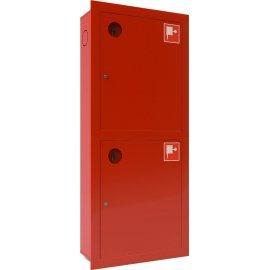 Ш-ПК-003-21ВЗК (ПК-320-21ВЗК) лев. Шкаф пожарный встроенный закрытый красный ТОИР-М
